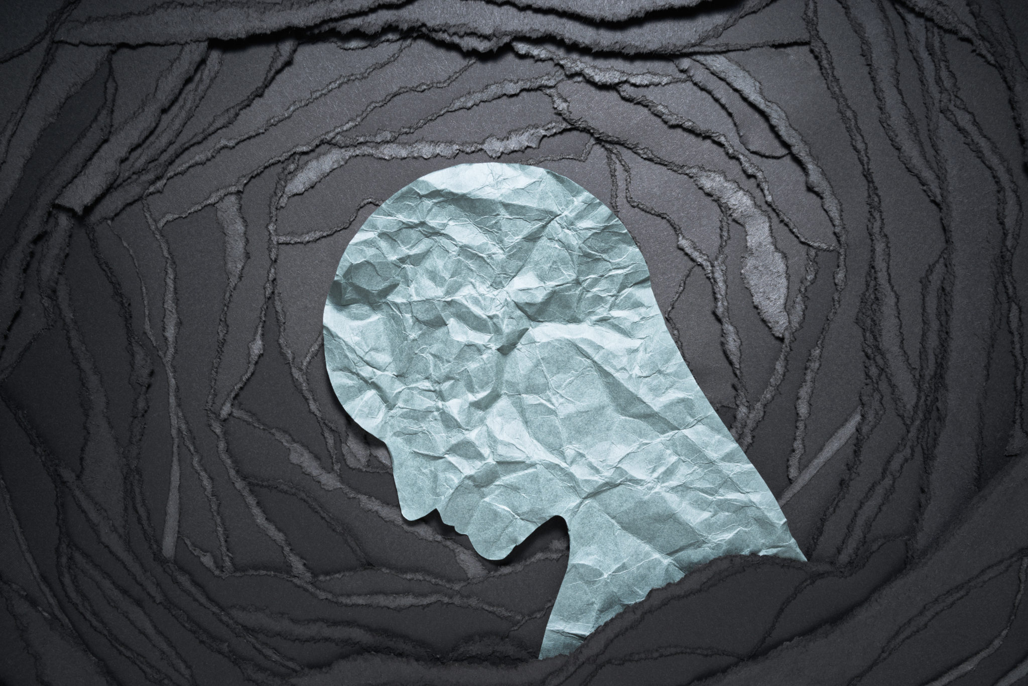silhouette,of,depressed,and,anxiety,person,head.,negative,emotion,image.