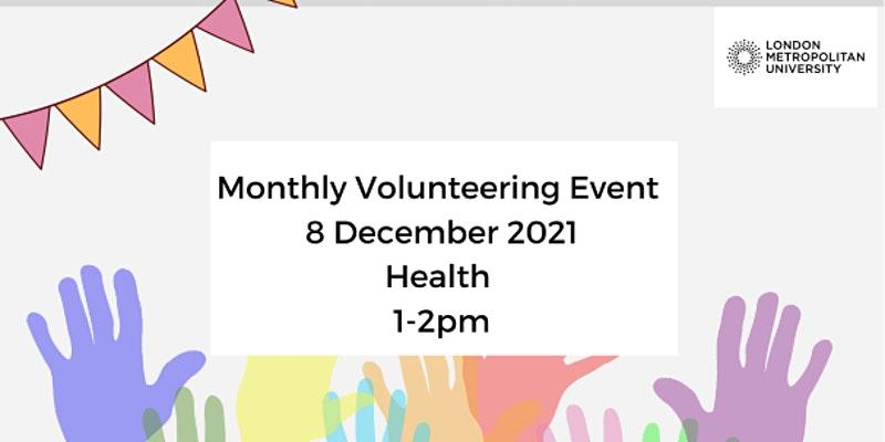 Monthly Online Volunteering Event December: Health