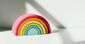 rainbow clay toy